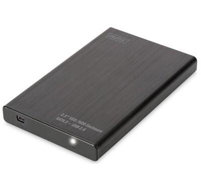 """BOX ESTERNO DIGITUS DA-71104 - USB 2.0 PER HD/SSD 2.5"""" SATA"""