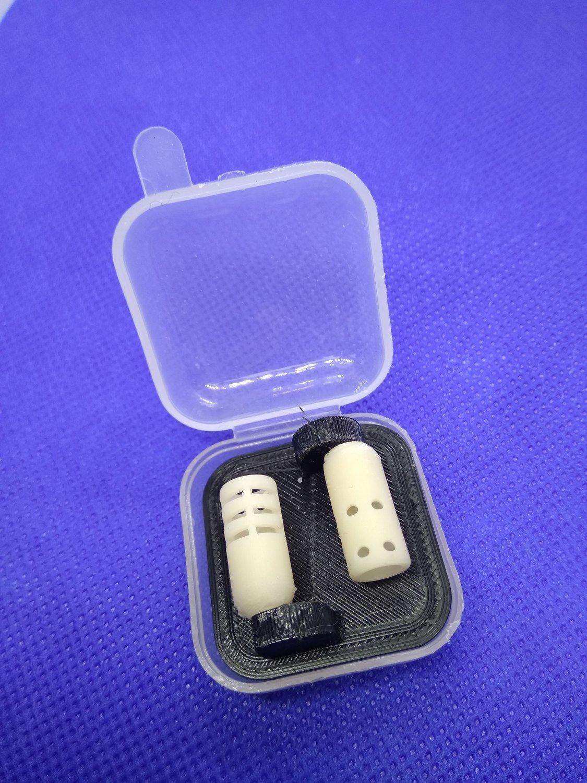 Кофр прозрачный с вкладышем для хранения и транспортировки  держателей петличных микрофонов