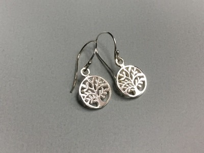 Ohrhänger Lebensbaum Silber