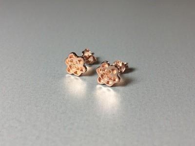 Ohrstecker Blume Silber rose vergoldet