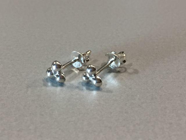 Ohrstecker Kügelchen Silber