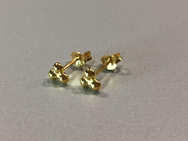 Ohrstecker Kügelchen Silber vergoldet