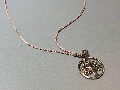 Seidenkette mit Lebensbaum Silber