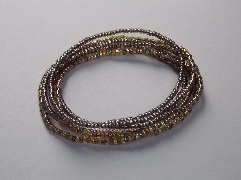 Stretch-Armbandkette graphit gold