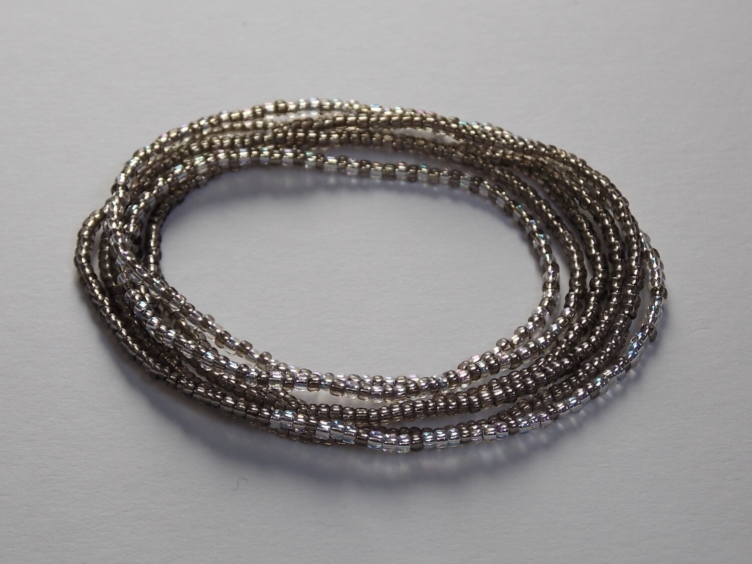 Stretch-Armbandkette graphit silber