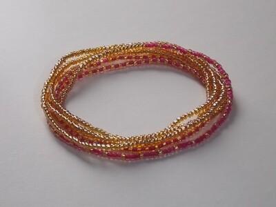 Stretch-Armbandkette gold pink