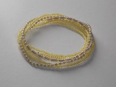 Stretch-Armbandkette gelb silbergrau