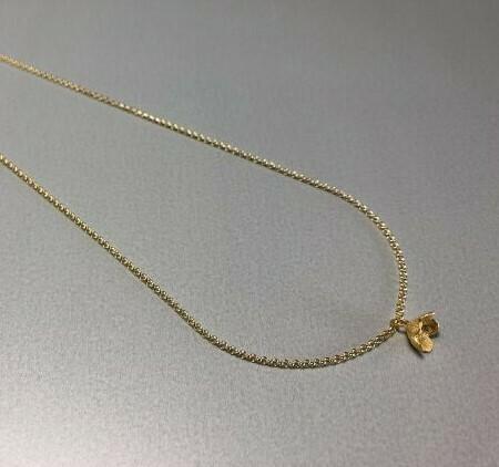 Halskette Silber vergoldet mit zarter Blüte