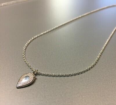 Halskette mit Anhänger Medallionstyle Silber