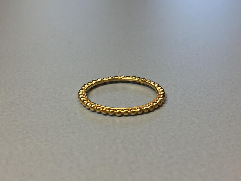Silberring vergoldet Kügelchendesign