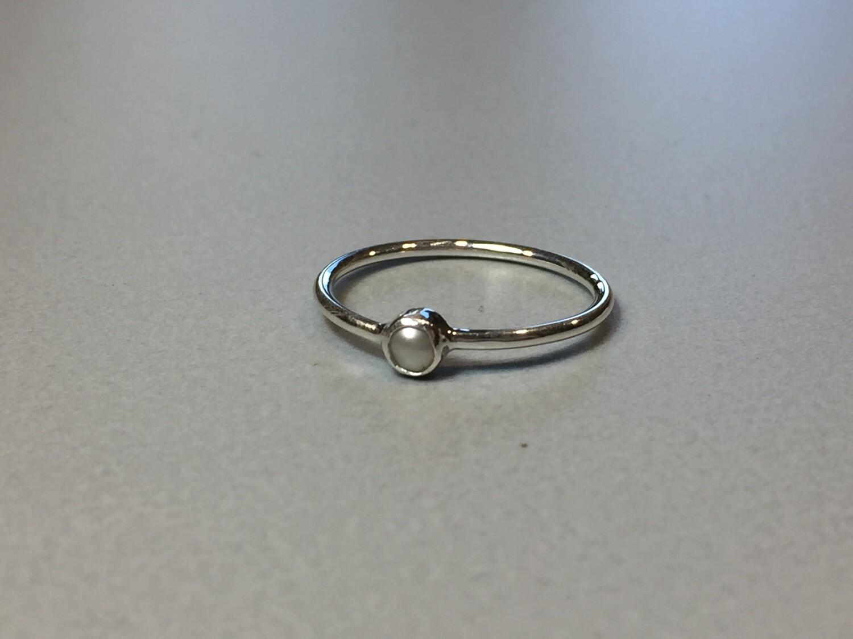 Silberring mit Miniperle