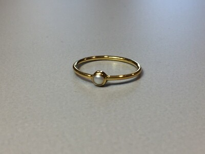 Silberring vergoldet mit Miniperle