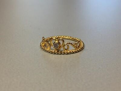 Silberring vergoldet Krone