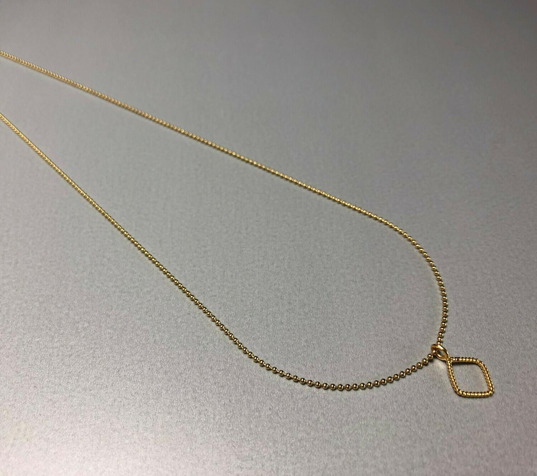 Halskette Silber vergoldet mit quadratischem Element
