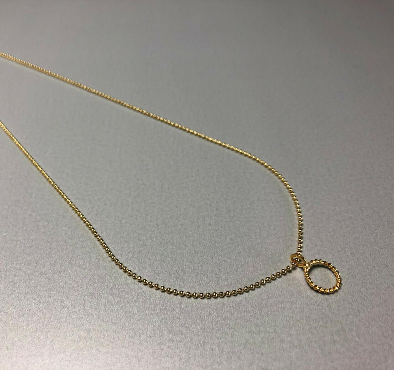 Halskette Silber vergoldet mit Kreiselement