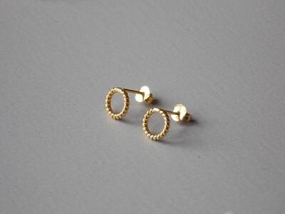 Ohrstecker Silber vergoldet Kordeldesign