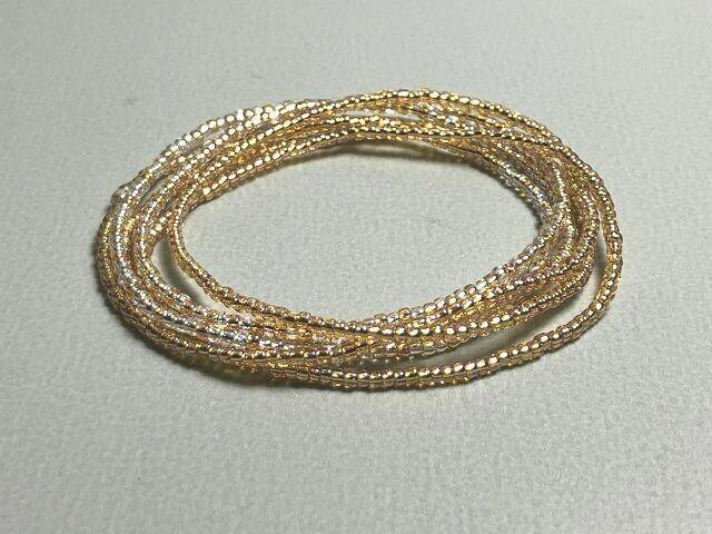 Stretch-Armbandkette gold silber