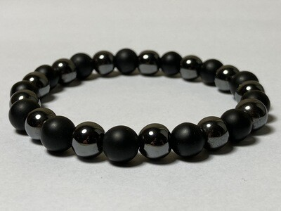Flexibles Herrenarmband anthrazit schwarz