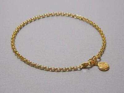 Silberarmband vergoldet mit Anhänger Medallionstyle