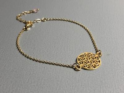 Silberarmband vergoldet mit Lebensblume