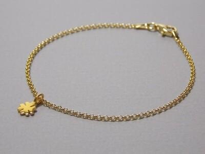 Silberarmband vergoldet mit Kleeblatt