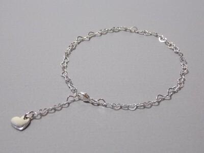 Silberarmband Herzchen