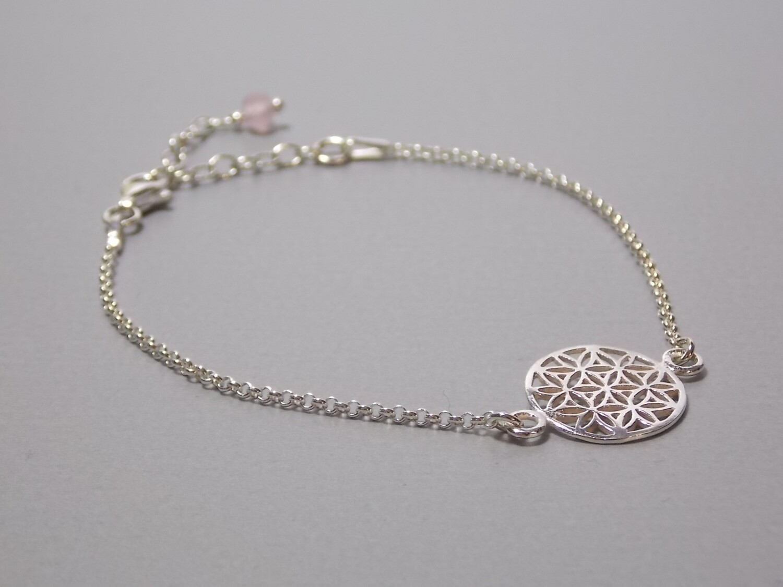 Silberarmband mit Lebensblume