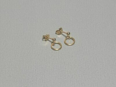Ohrstecker mit Ring silber vergoldet