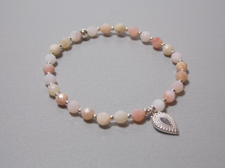 Armband Pink Opla mit Anhänger Silber