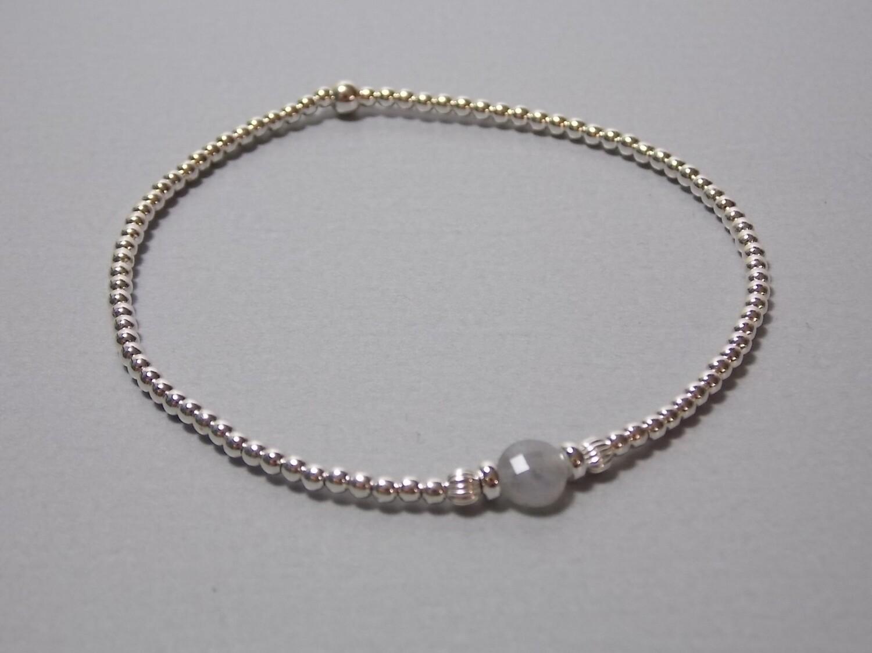 Armband Silberkugeln und Labradorit