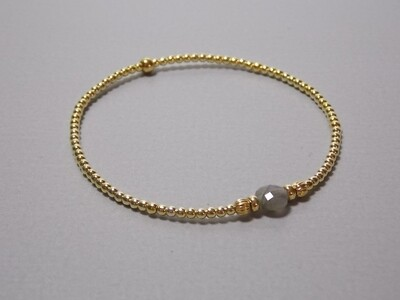 Armband Silberkugeln vergoldet und Labradorit