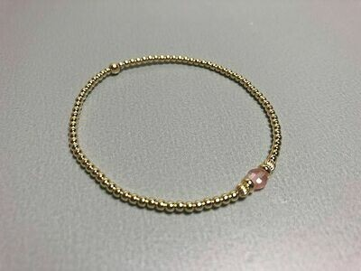 Armband Silberkugeln vergoldet und Naturstein gefärbt
