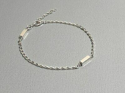 Armband mit Hematitstäbchen Silber