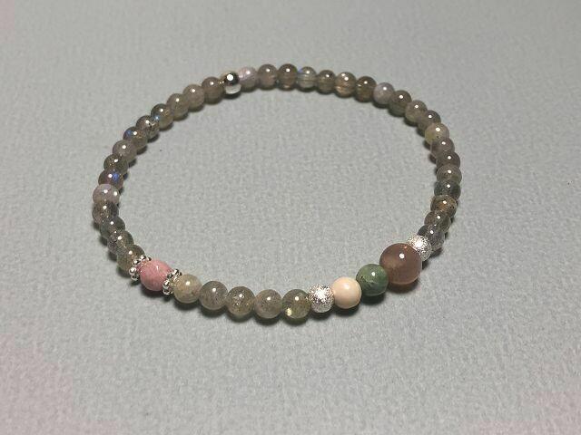 Armband mit Mondstein und Edelsteinmix