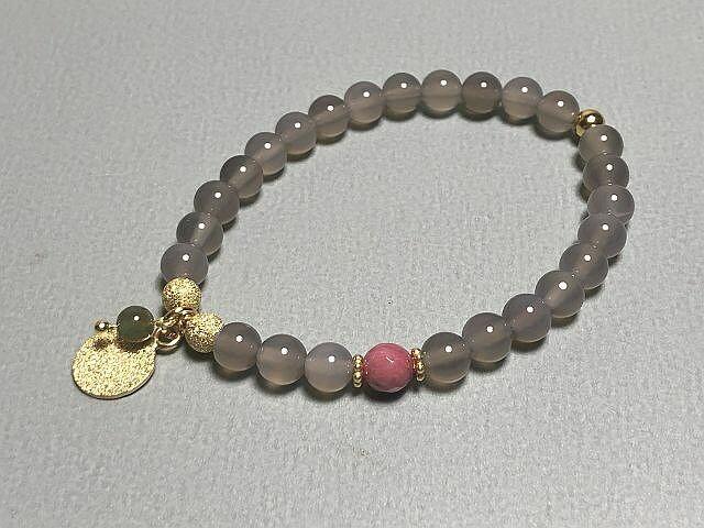 Armband Achat mit Silberelementen vergoldet