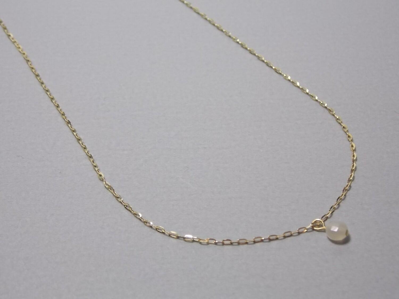 Kurze Halskette Silber vergoldet mit Mondstein