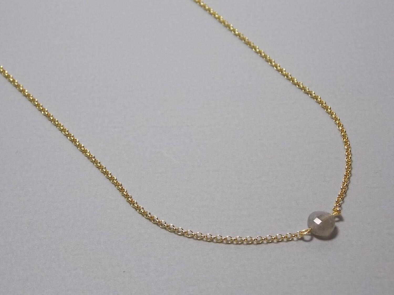 Kurze Halskette Silber vergoldet mit Labradorit