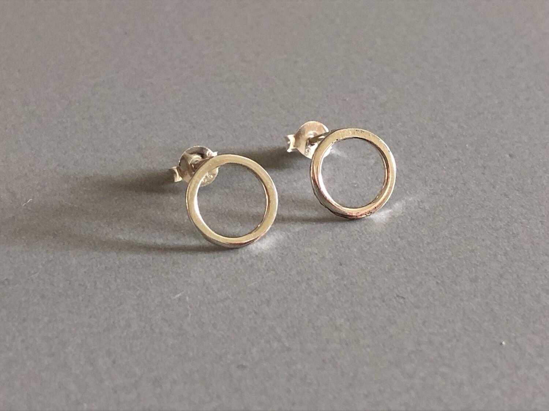 Ohrstecker Ring Silber