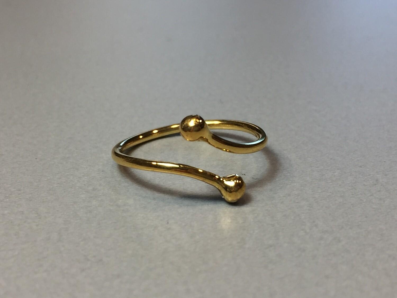 Offener Silberring vergoldet