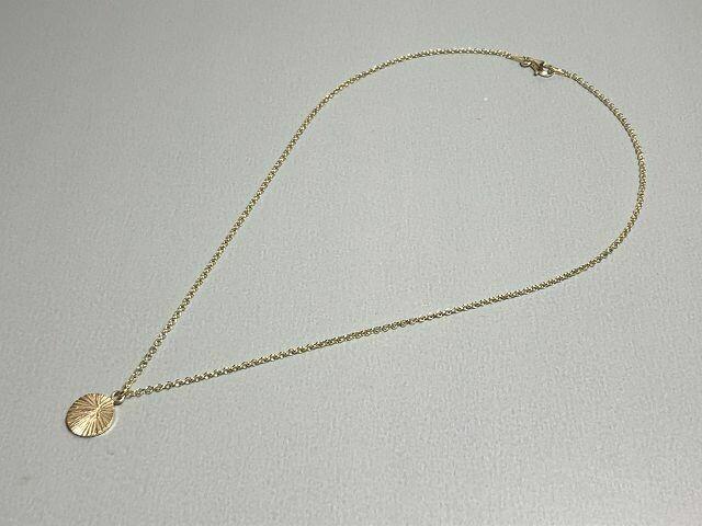Halskette mit geschliffenem Anhänger Silber vergoldet