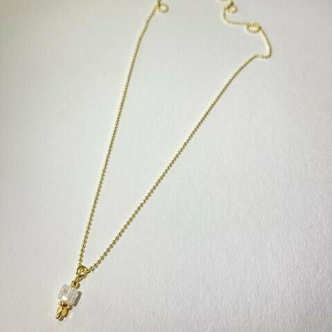 Halskette vergoldet mit Bergkristall