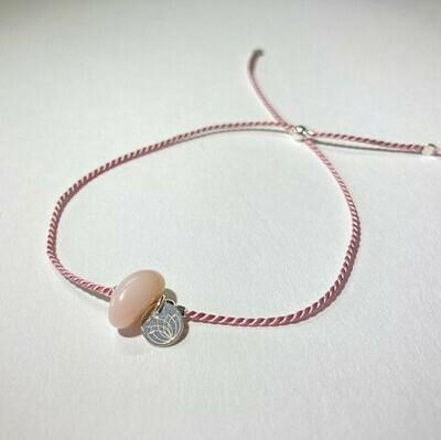 Seidenarmband mit pink Opal