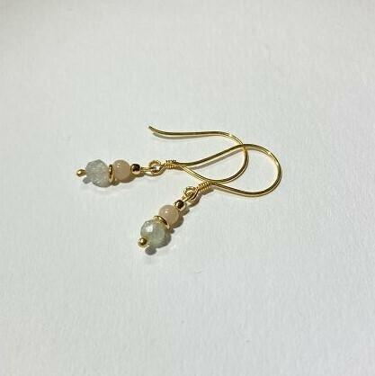 Ohrhänger vergoldet mit Edelsteinen