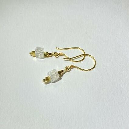 Ohrhänger vergoldet mit Bergkristall