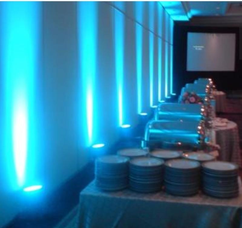 Blue up-lights