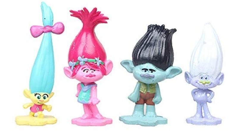 Trolls Action figure cake toppers