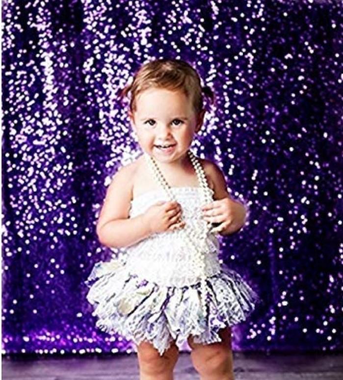 Purple sequin backdrop curtian (2)
