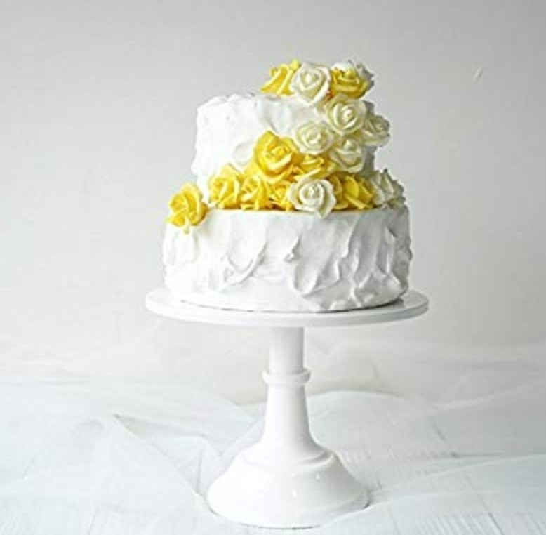 White 12 inch adjustable cake stand
