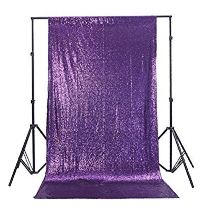 6x6 Purple Sequin Curtian (1)