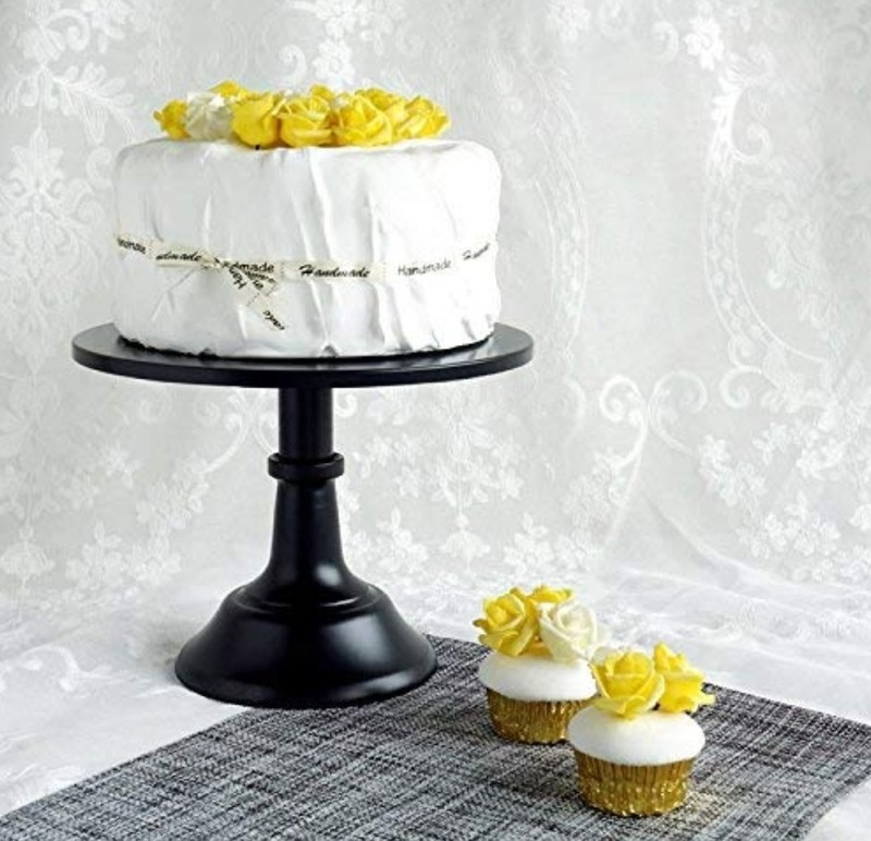 Black 12 inch adjustable cake stand